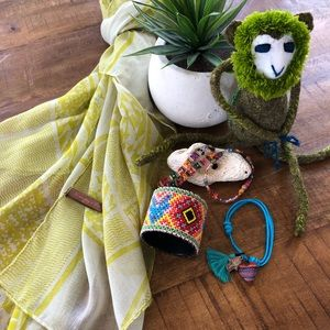 Handmade Bracelets from Mexico and Scarf!